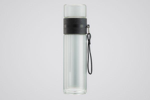 ของพรีเมี่ยม แก้วน้ำ กระบอกน้ำแก้วใสสองชั้น พร้อมที่กรองชา #OGD071
